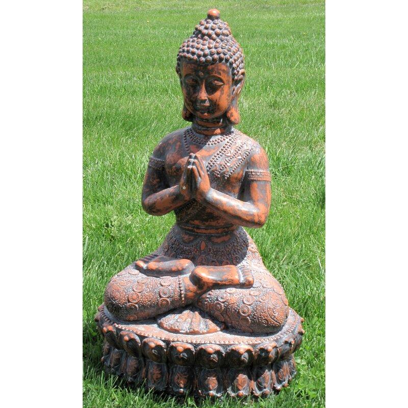 Arlmont Co Ronald Praying Buddha Garden Statue Reviews Wayfair