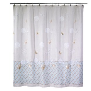 Seaglass Cotton Single Shower Curtain