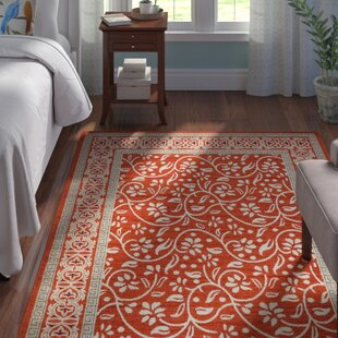 McCabe Rust Red Indoor/Outdoor Area Rug