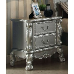 Swiney Wooden 2 Drawer Nightstand