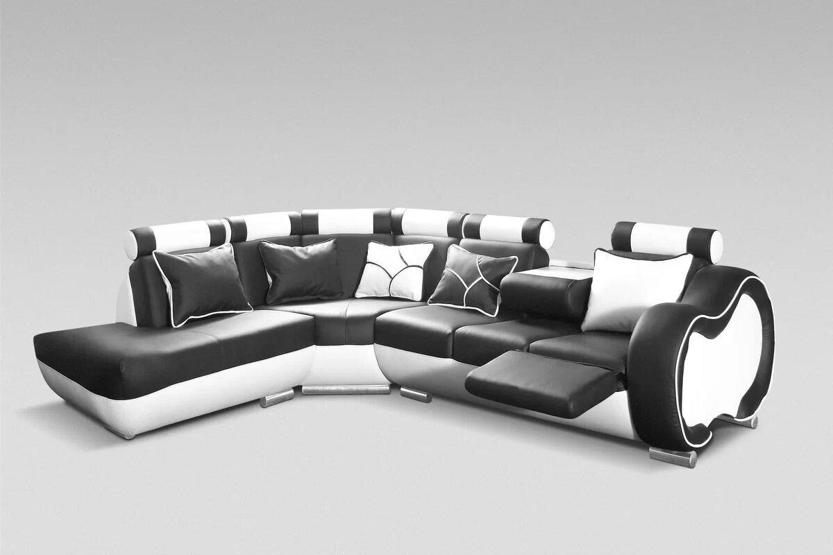 Hokku Designs Ecksofa Devola mit Relaxfunktion und 5 Dekokissen ...