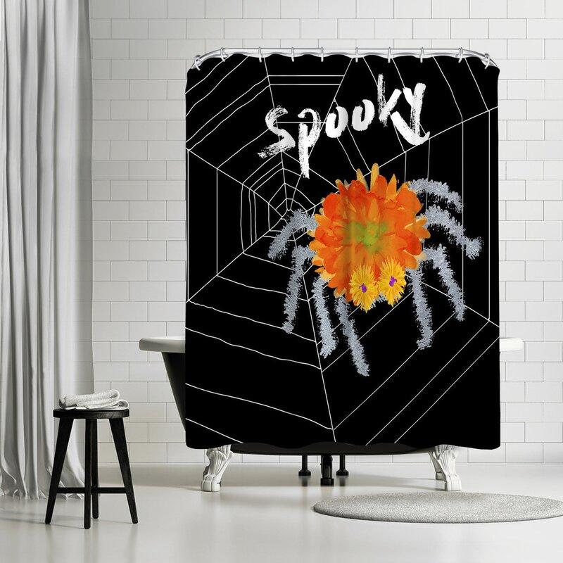 Edith Jackson Spooky Spidey Shower Curtain