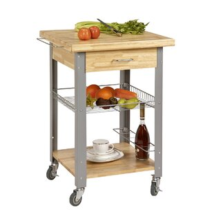 Emiline Rolling Storage and Organization Kitchen Cart
