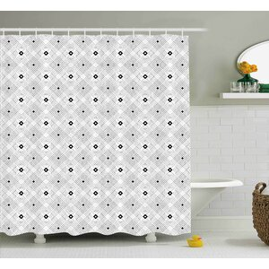 Baudoin Place Modern Squares Shower Curtain