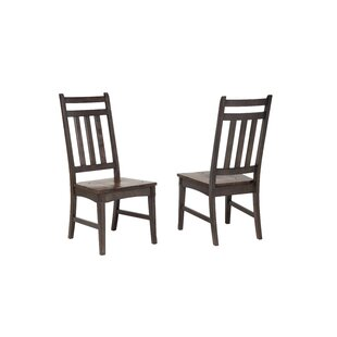 Springwater Slat Back Side Chair (Set of 2) Loon Peak