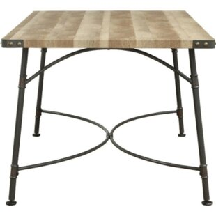 Cammack Industrial Rectangular Solid Wood Dining Table