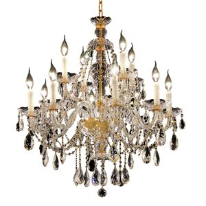 Schroeppel Traditional 12-Light Crystal Chandelier