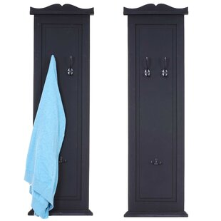 Lowell Wall Mounted Coat Rack (Set Of 2) By Breakwater Bay