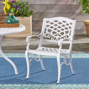 August Grove Hoopes Outdoor Patio Dining Chair (Set of 2)