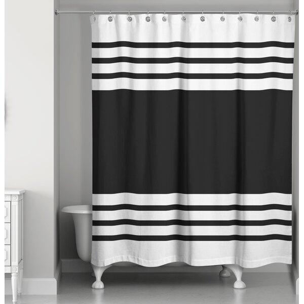 Gracie Oaks Mablethorpe Stripe Single Shower Curtain Reviews Wayfair