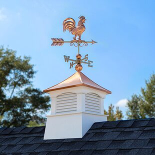 Coventry Vinyl Cupola With Rooster Weathervane By Good Directions