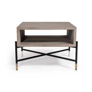 Thibeault Concrete and Metal Coffee Table by Williston Forge