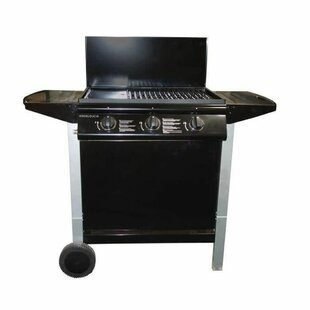 62cm Nyberg 3-Burner Portable Natural Gas Barbecue Grill By Symple Stuff
