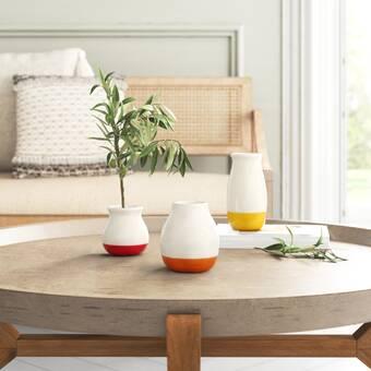 Nalani Hammered Ceramic Table Vase Reviews Joss Main
