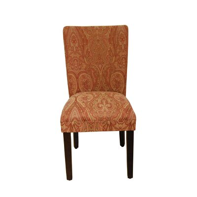 Tenbury Classic Upholstered Dining Chair Andover Mills Upholstery Color: Red/Gold