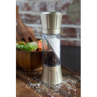 Hourglass Shape Dual Salt Pepper Mill Spice Grinder Kitchen Cooking Tools US KY