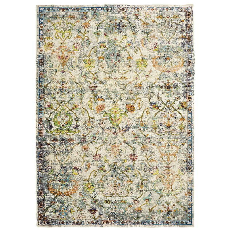 Amory Old World Victorian Gray Area Rug