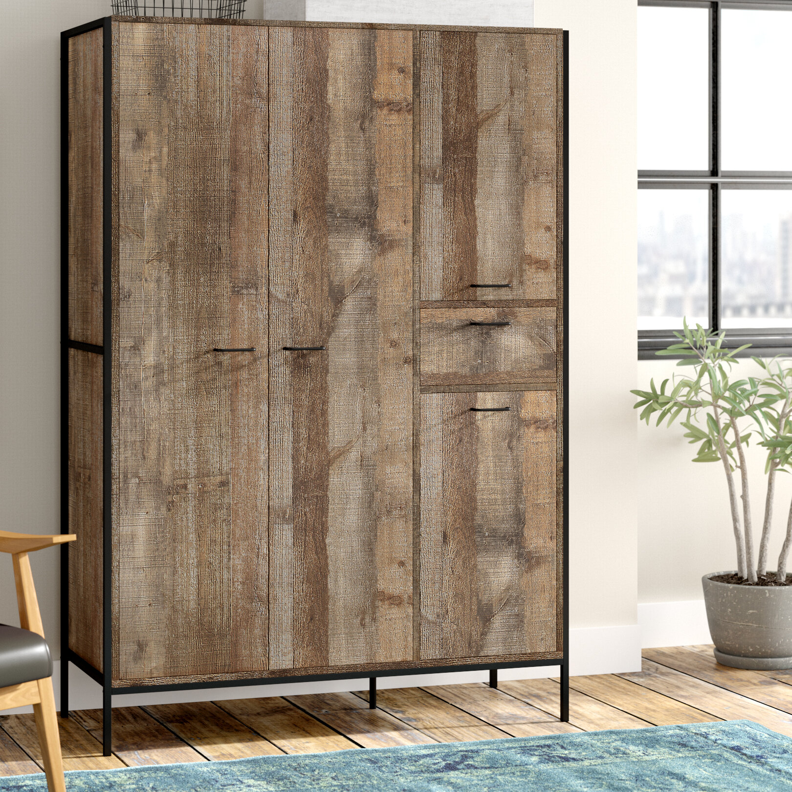 Williston Forge Drehtürenschrank Amesbury & Bewertungen | Wayfair.de