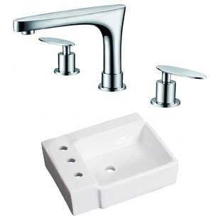 Affordable Price Ceramic 16.25 Bathroom Sink with Faucet ByRoyal Purple Bath Kitchen
