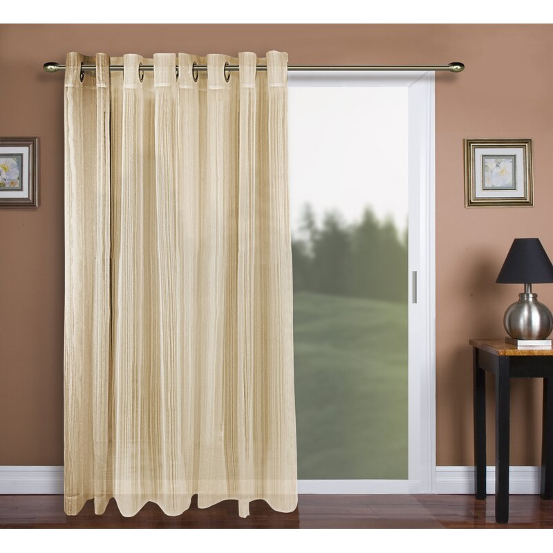 Darby Home Co Adairsville Solid Sheer Grommet Single Curtain Panel Reviews Wayfair