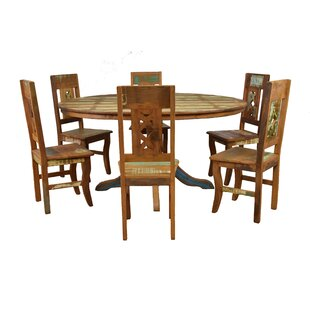 Goulart 7 Piece Solid Wood Dining Set
