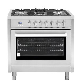 36 3.8 cu ft. Free-standing Dual Fuel Range by Cosmo