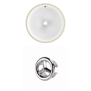 American Imaginations Ceramic Circular Undermount Bathroom Sink with Overflow
