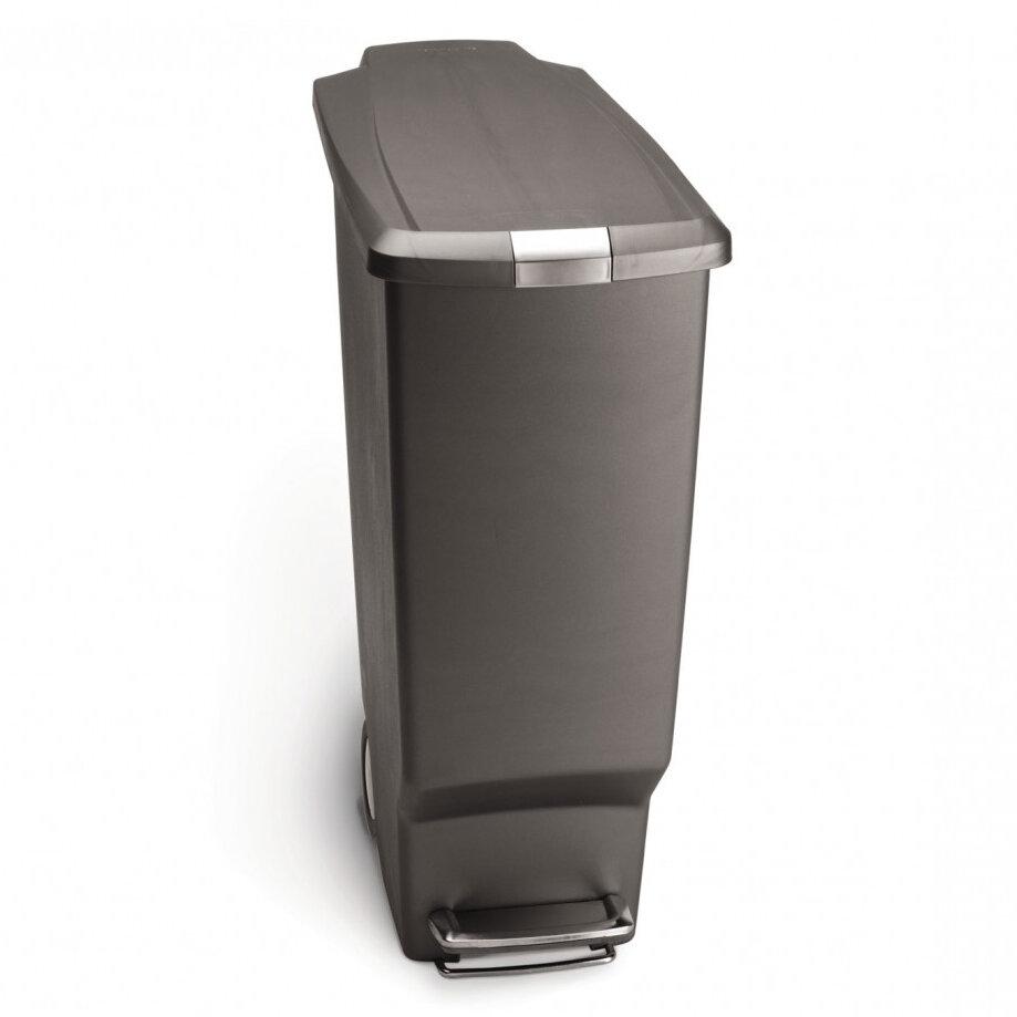 simplehuman 10.6 Gallon Slim Step Trash Can, Plastic & Reviews   Wayfair