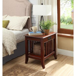 Quebec Nightstand with Charging Station by Charlton Home