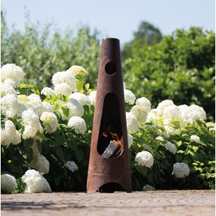 Blandford Steel Wood Burning Outdoor Fireplace By Sol 72 Outdoor