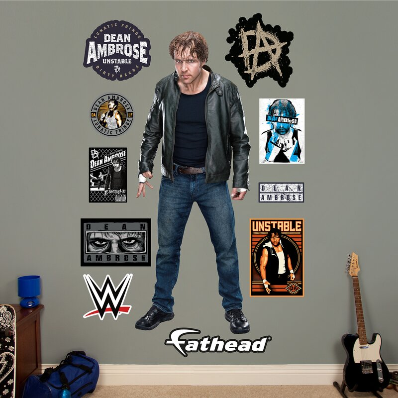 Merveilleux WWE Dean Ambrose Peel And Stick Wall Decal