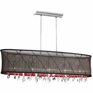 Radionic Hi Tech Saffron 5-Light Kitchen Island Pendant