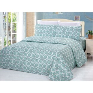 4 Piece Geometric Rayon Sheet Set