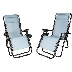 Loma Reclining/Folding Zero Gravity Chair (Set of 2)