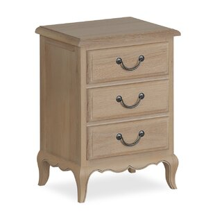 Natasha 3 Drawer Bedside Table By Lily Manor