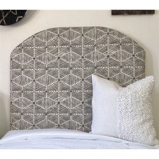 Midhurst Arched Twin/Twin XL Upholstered Panel Headboard by Harriet Bee