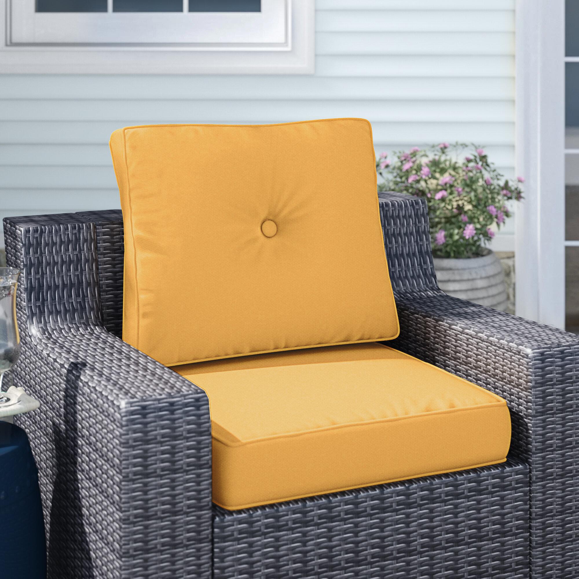 Breakwater Bay Deep Indoor Outdoor Sunbrella Seat Back Cushion Reviews Wayfair
