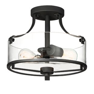 Coil 2-Light Semi Flush Mount by Williston Forge