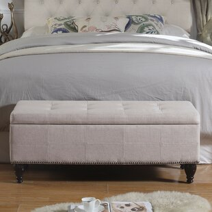 Darrah Upholstered Storage Bench by Charlton Home Great price