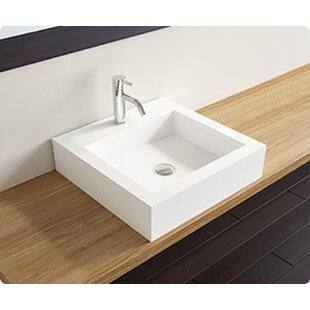 Affordable Polymarble Square Vessel Bathroom Sink By Badeloft