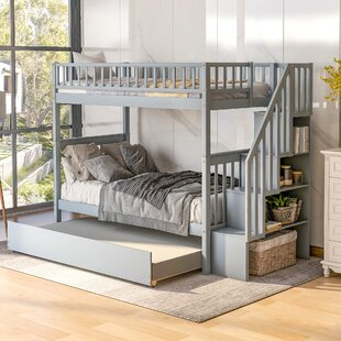 Harbor Twin over Twin Bunk Bed with Trundle and Shelves