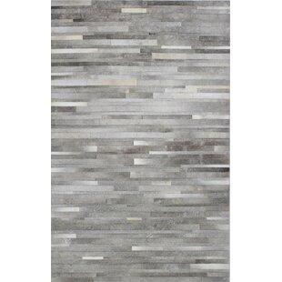 Berdina Hand Woven Gray Silver Area Rug