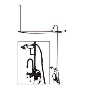 clawfoot tub and shower package. Vintage Triple Handle High Rise Gooseneck Clawfoot Tub and Shower Package  Wayfair