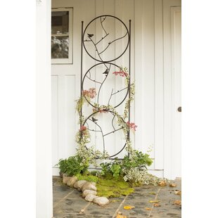 Plow & Hearth Circle of Birds Iron Gothic Trellis
