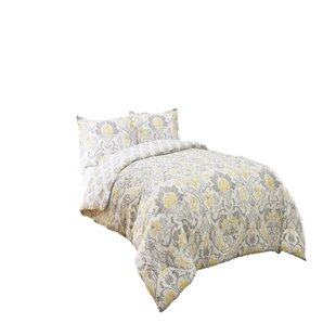 Hermina Cotton 3 Piece Reversible Comforter Set