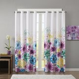 Bertrad Floral Max Blackout Thermal Grommet Single Curtain Panel