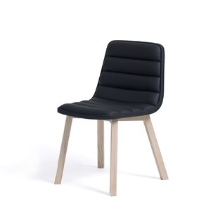 Brayden Studio Roopville Genuine Leather Upholstered Dining Chair