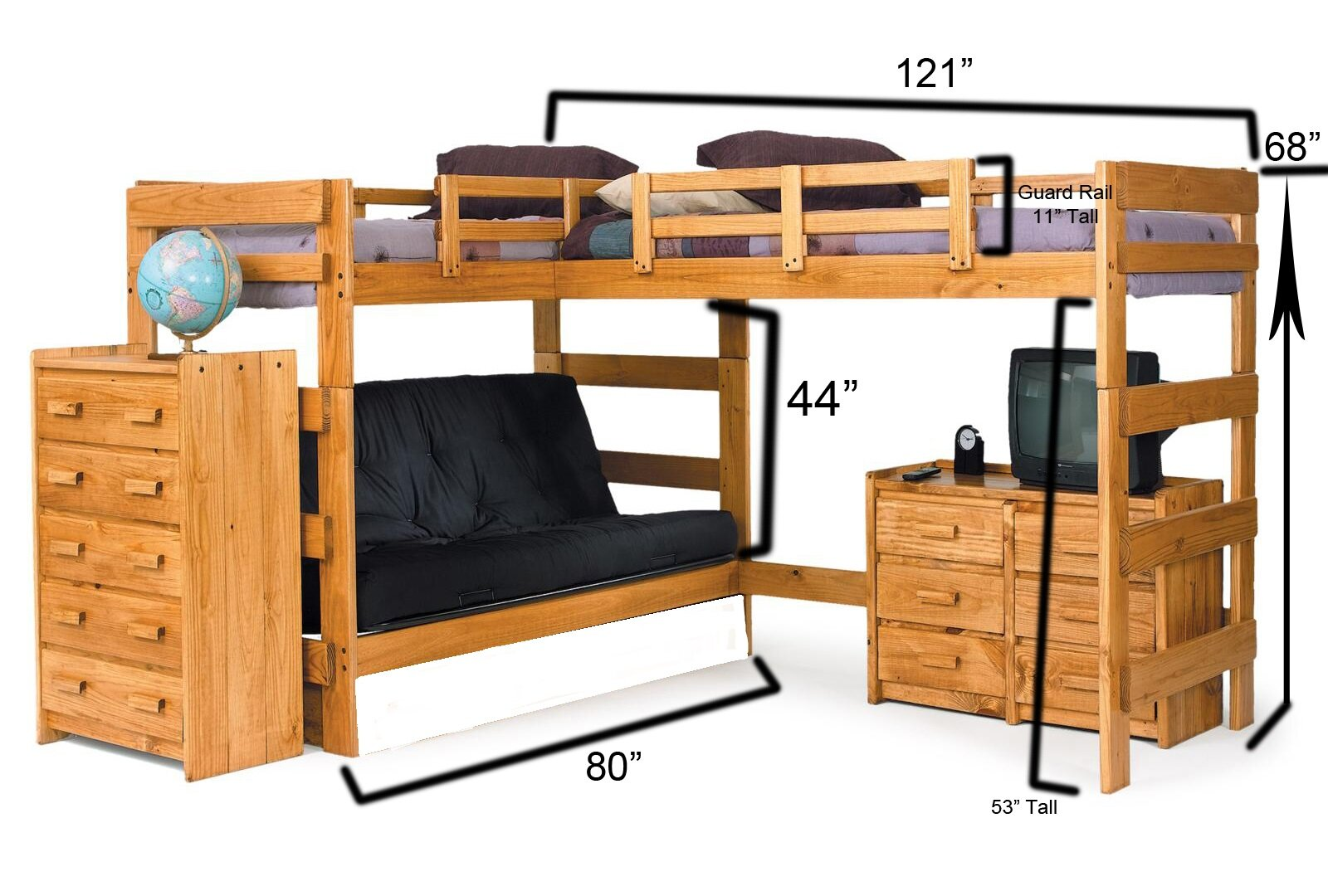 Chelsea Home Twin Over Full L Shaped Bunk Bed Reviews Wayfair