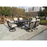 Rolla Outdoor 7 Piece Dining Set with Cushions