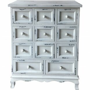 Pero Wooden 11 Drawer Accent Chest by One Allium Way